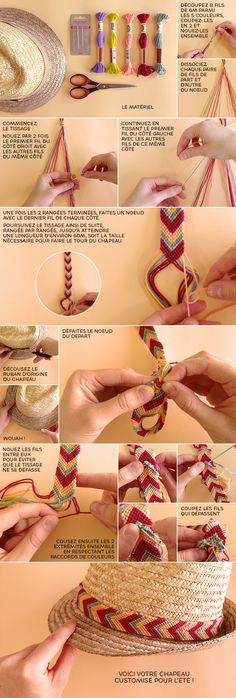 How To Make Friendship Bracelets Step By Step Bracelet Crafts, Jewelry Crafts, Handmade Jewelry, Friendship Bracelet Patterns, Friendship Bracelets, Do It Yourself Mode, Diy And Crafts, Arts And Crafts, Ideias Diy