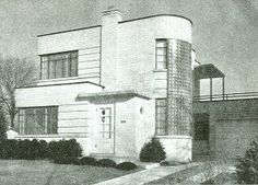 Image detail for -Vintage Art Deco House Home Plans Book 1940's ...