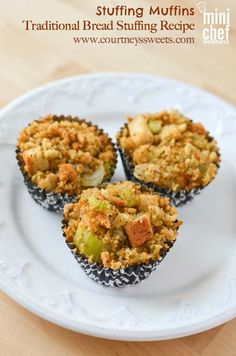 Thanksgiving Stuffing Muffins Traditional Bread Stuffing Recipe. Quick and simple recipe for kids to make!