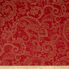 Waverly Past Tense Linen Blend  Jacquard Bejeweled from @fabricdotcom  This wonderful, medium/heavyweight jacquard fabric is super soft due to the linen/rayon blend. Perfect for heavyweight upholstery projects like furniture, ottomans, and headboards. Colors include red and tan.