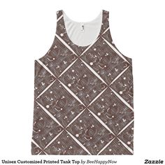 Unisex Customized Printed Tank Top All-Over Print Tank Top