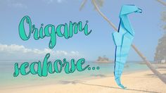 Origami seahorse... #origami #seahorse #arts #crafts Origami Day, Neon Signs, Crafts, Art, Art Background, Manualidades, Kunst, Handmade Crafts, Diy Crafts