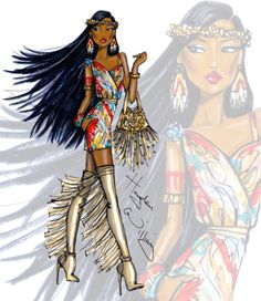 #Disney Diva Fashionistas by Hayden Williams: Pocahontas #Hayden Williams Fashion Illustrations