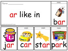 Worksheets Ar Words er phonics flip book download this free word to printable explore common ar words with great reading lesson resource