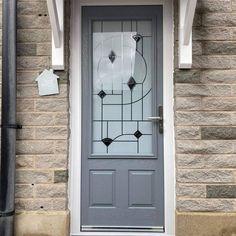 Moon dust grey RAL7001 composite door xtremedoor Porch Uk, Art Deco Bathroom, Grey Doors, Composite Door, Moon Dust
