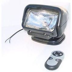 Magnalight Golight Stryker GL-3051-F 12 volt remote control flood light with handheld remote control - black. Golight Stryker GL-3051-F 12 volt remote control flood light with handheld remote control - black