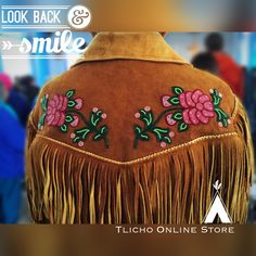 Happy Monday! #Beautiful beadwork on a #moose hide jacket from #Behchoko #tlichomade #livingculture