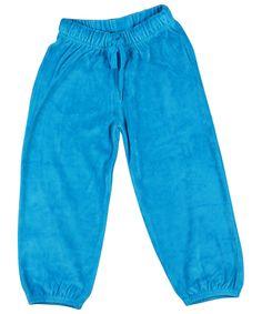 Broek Velours Blauw