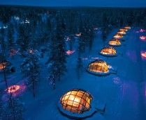 Glass Igloo Village Hotel in Finland