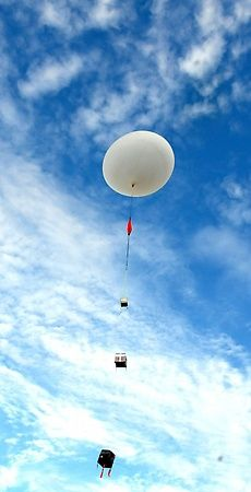 A group of students at White Bear Lake High School spent six weeks designing a balloon only to have it explode feet in the air. The high school's aviation and aerospace cla… Weather Balloon, White Bear Lake, State Of The Union, Blood, Balloons, Students, Ships, Science, Education