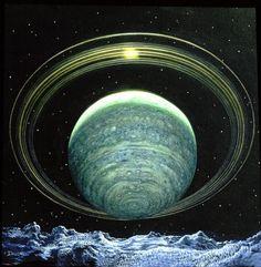 Real Pictures of Uranus | Uranus Rings pre-Voyager visualization of the rings of Uranus viewed ...