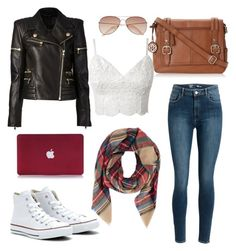 tobacco color bag by hilorine on Polyvore featuring polyvore fashion style Balmain H&M Converse clothing