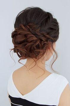 wedding updos interesting braided bun