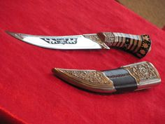 Unique knives, daggers and swords. This knife is not for sale.