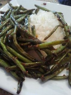 Chinese Dry-Sauteed String Beans from Food.com:   								An authentic Chinese dish, that happens to be one of my very favorites. I searched a long time for one that tasted restaurant quality and was easy to make! You can subsitute long beans cut into 3 inch segments for the green beans to make it even more authentic.