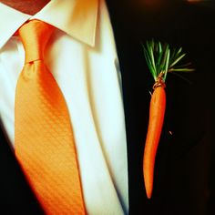 who knew a baby carrot could be so debonair? #wedding #groom