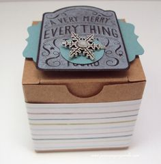 Jean's Paper Jewels: Merry Everything! #stampinupdemonstrator, #papercrafting, #merryeverything, #giftbox