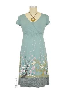 Tara Nursing Dress in Soft Blue Harmony by Mothers en vogue with free shipping