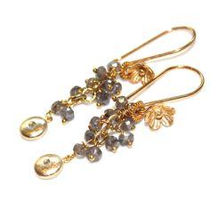 #Delicate #Earrings #Labradorite Earrings #Cluster by #FizzCandy, $58.00
