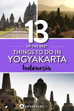 Yogyakarta | Looking for things to do in Yogyakarta? From watching the sunrise from Borobudur Temple to visiting one of the many fascinating landscapes and attractions, Yogyakarta Java if full of things to do.