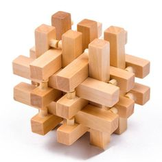 7 18 Year Intelligence Wooden Wood 3D IQ Puzzle Brain Teaser Magic Cube Toy Gift   eBay