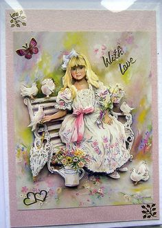 Summer Dreams HandCrafted 3D Decoupage Card  With by SunnyCrystals, $3.65