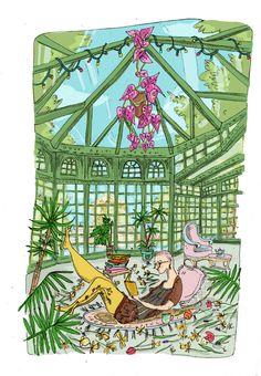 Un bel endroit pour une confinée – Lucie Massart Ferris Wheel, Fair Grounds, Illustrations, Drawings, Illustration, Sketches, Drawing, Portrait, Draw