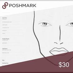 Mac blank Face charts (10) 10 Mac face charts MAC Cosmetics Other