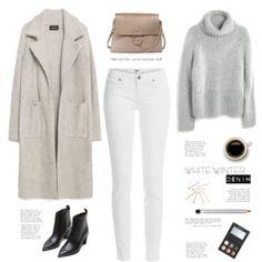 White winter jeans