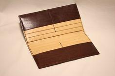Long Wallet by LeatherCraftSuzuki on Etsy