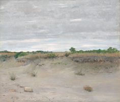 Wind-Swept Sands, 1894William Merritt Chase (American, 1849-1916)Oil on canvas, 87 x 101.5 cmArt Institute of Chicago, United StatesBetween 1891 and 1901, William Merritt Chase was a highly influential teacher at the Shinnecock Summer Art School in Long Island, New York, and while there he painted numerous landscapes of the surrounding area. Chase's teaching method was rooted in the French Impressionist tradition of painting outdoors in order to take advantage of natural light and changing…