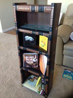 Encyclopedia Shelf Made by morethanjustbooks.ca