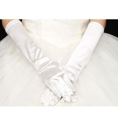 Satin Elbow length Wedding gloves