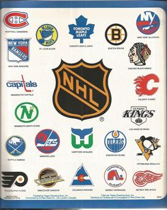 A sweet collection of NHL logos from a 1981 O-Pee-Chee sticker album