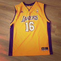 Gasol LAKERS Adidas Youth / KIDS Jersey -16 Gasol #16 LAKERS Adidas Jersey. Youth Large.  Tiny pen head size mark at base as shown. Adidas Other