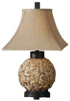 Check out the Uttermost 26470 Calameae 1 Light Table Lamp in Natural  Rattan Aged Black. Diza Design a59c905039196