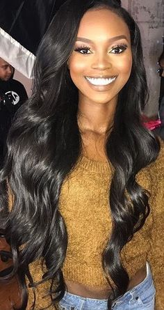 Brazilian Body Wave Hair 3 Bundles With Closure Grade Brazilian Virgin Hair Wavy Human Hair Bundles With Closure, Factory Cheap Price, DHL Worldwide Shipping,Store Coupons Available. Trendy Hairstyles, Weave Hairstyles, Black Hairstyles, Brazilian Hairstyles, Frontal Hairstyles, Beautiful Hairstyles, Prom Hairstyles, Hair Extensions Before And After, Crochets Braids