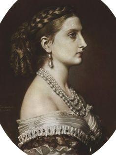 Marie Luise Alexandrine Karoline, princess of Hohenzollern-Sigmaringen, 1866. Franz Xaver Winterhalter