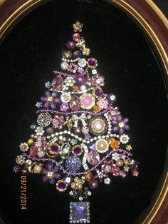 Beautiful Vintage Jewelry Christmas Tree by GawdyGrandGarageSale