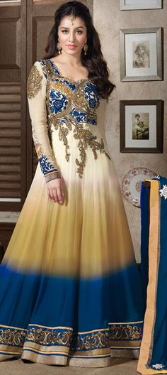 421713: Look like actress #ShraddhaKapoor - #this #anarkali is made up of…