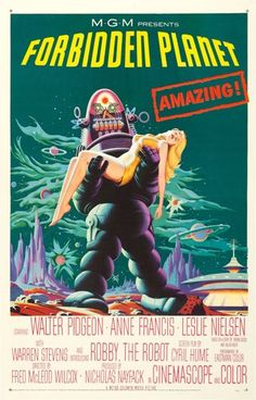 """Movie Posters:Science Fiction, Forbidden Planet (MGM, 1956). One Sheet (27"""" X 41"""").. ..."""