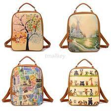 Girls Women Bags Backpack School Shoulder Bag Rucksack PU Leather Travel Bag T79