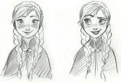 Disney Frozen Anna Sketches Details - Concept Art
