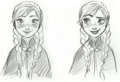Disney Frozen Anna Sketches Details - Concept Art