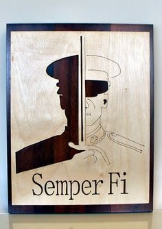 Wow.... Military Plaque Semper Fi Marine by UniqueWoodTreasures on Etsy, $34.95