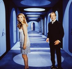 "Moneypenny) & David Niven (Sir James Bond) in ""Casino Royale"" Casino Night Party, Casino Theme Parties, James Bond, 007 Casino Royale, Barbara Bouchet, Casino Movie, Play Casino, David Niven, John Huston"