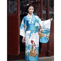 Sweet Japanese Girl Deluxe Polyester Kimono Women's Ethnic Costume – GBP £ 27.73