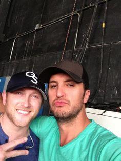 Luke Bryan ♥ and Cole Swindell :) We grow 'em well in Georgia <3