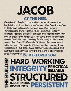 JACOB Personalized Name Print / Typography Print / by OhBabyNames