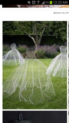 Halloween floating ghost brides-.made of wire mesh